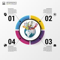 opzione cerchio moderno business infografica