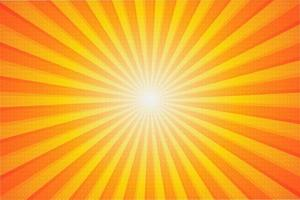 fondo solar de verano vector