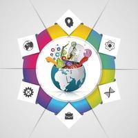 Modern World Business infographic