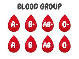 varias bolsas de sangre vector