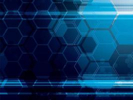 Abstract Technology Background with Hexagons vector