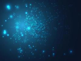 abstrakter blauer Technologie-Linienhintergrund