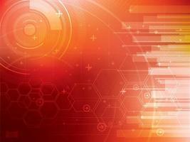 Fondo de tecnología futurista naranja brillante vector