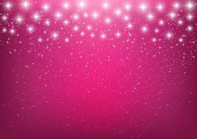 Shiny Stars on Bright Pink Background