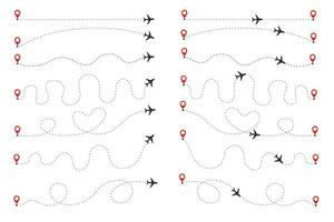 The plane follows the dotted line vector