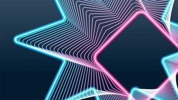 Shining swirl neon lights background  vector