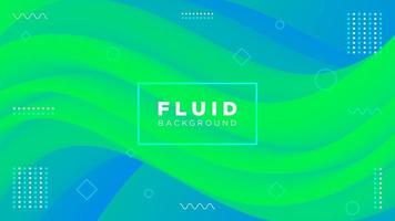 Creative Modern Fluid Background in Blue Green Colors