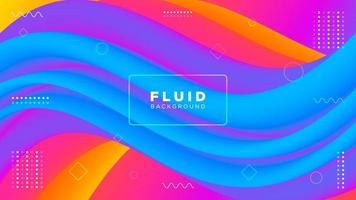 Abstract Colorful Modern Fluid Background