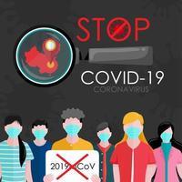 parar o vírus da coroa covid-19 vetor