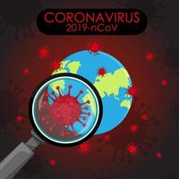 cartel de pandemia de coronavirus global vector