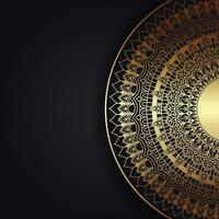 Decorative Background with Gold Mandala