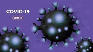Coronavirus or Covid-19 background.