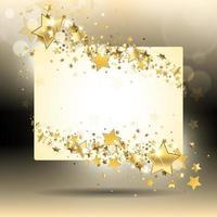 bakgrund med guldstjärnor
