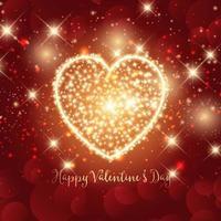 Sparkle hart Valentijnsdag achtergrond