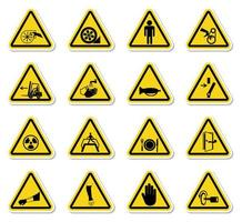 Warning Hazard Symbols Set vector
