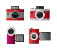Set of Cameras vector