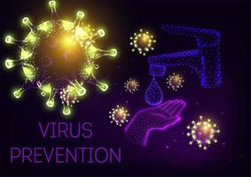 COVID-19 Virus Prevention in Connected Tech Dots