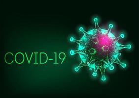 néon verde brilhante covid-19
