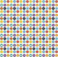 conjunto de iconos web circular vector