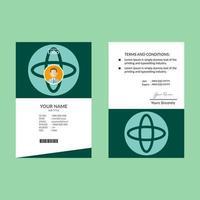 cerceta e modelo de design de cartão de identificação azul