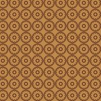 Light Brown Round Abstract Shapes Pattern  vector