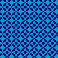 Round Repeating Simple Blue Geometric Pattern vector