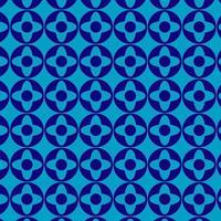 ronda repitiendo patrón geométrico azul simple
