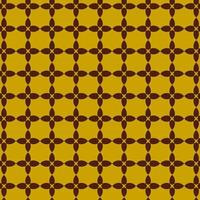 Brown and Yellow Retro Geometric Shape Pattern