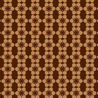 Brown Abstract Circle and Star Seamless Retro Pattern vector