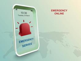 Emergency service by application on smart phone