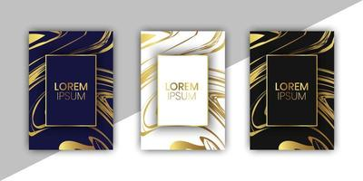 Luxury Cards Collection With Marble Design