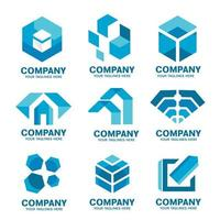 Modern business logo icons collection