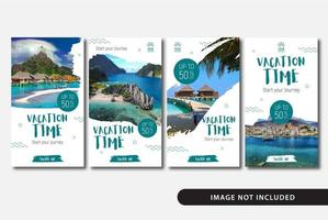 Vacation Holiday Stories Templates vector