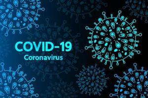 Fondo de coronavirus en estilo futurista hud