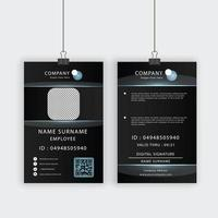 Profile ID Card Template with Transparent Bubbles