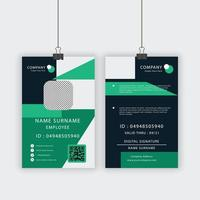 Green Angled DesignID Card Template