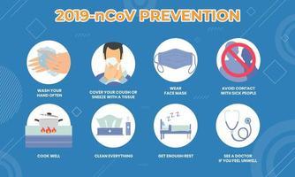 coronavirus, cartel de infografía cov vector