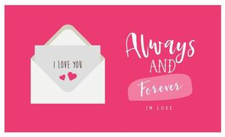 Always and forever card with love letter