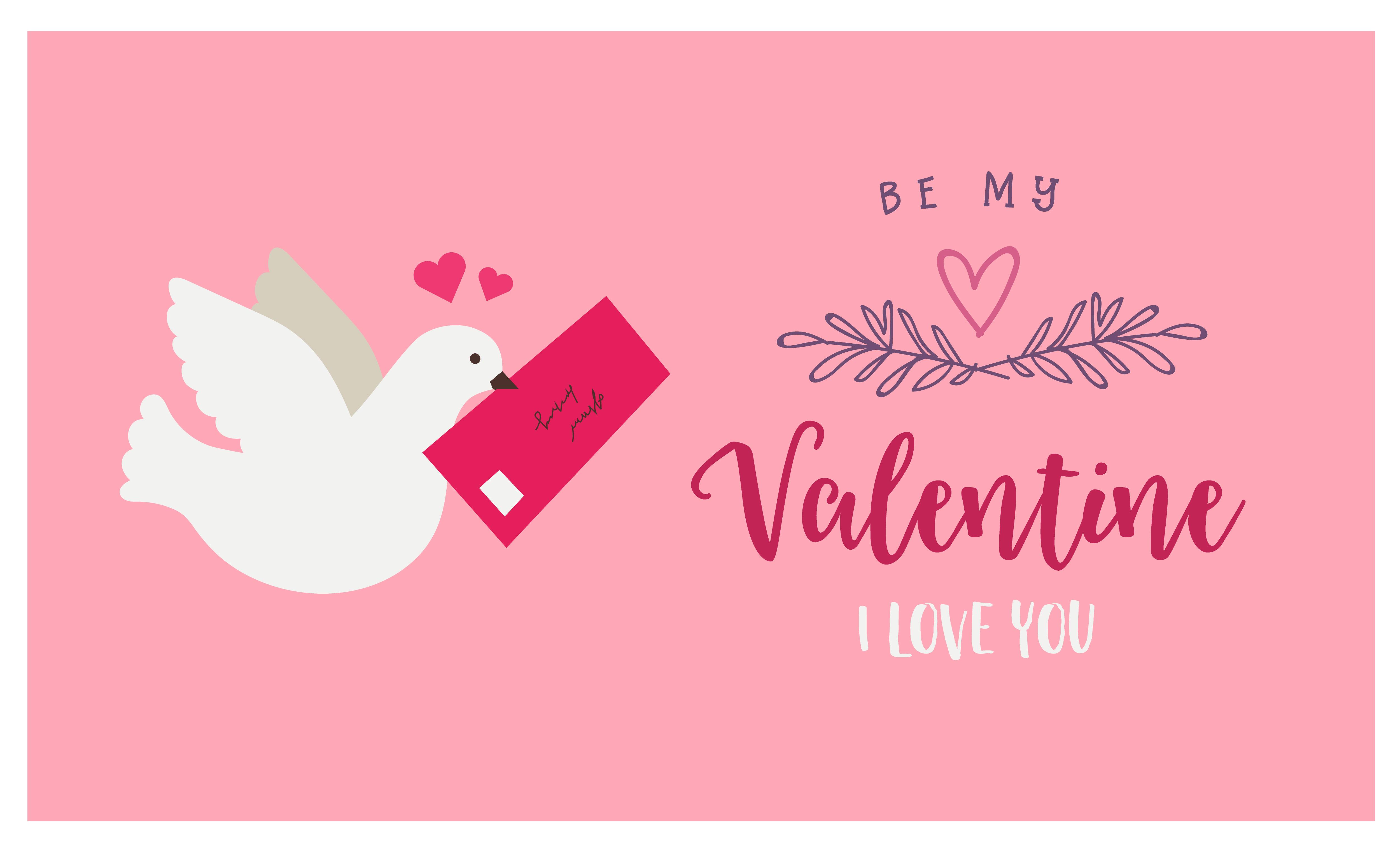 Decorazioni Lettere D Amore biglietto di auguri rosa con colomba e lettera d'amore