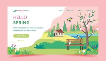 Hello spring landing page template