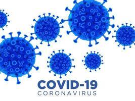 cartel de coronavirus azul vector