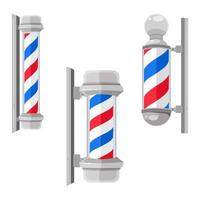 Vintage Barber Shop Pole Set vector