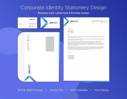 Gradient Arrow Corporate Identity Set vector