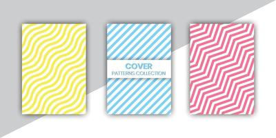 Mixed Line Pattern Cover Set vector