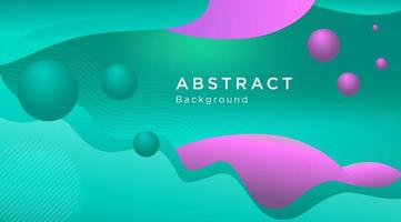 Turquoise and Purple Liquid Flowing Shape Background