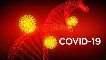 Red and Yellow COVID-19 Poster