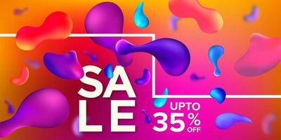 Multiple Colorful Abstrac Liquid Shape Sale Banner