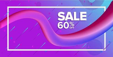 Dynamic Shape Sale Banner with Diagonal Lines