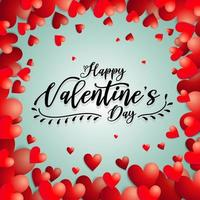 ''Happy Valentine's Day'' in Heart Frame