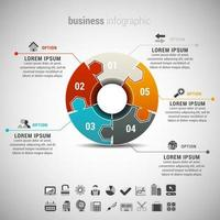 Business Infographic with Puzzle Chart